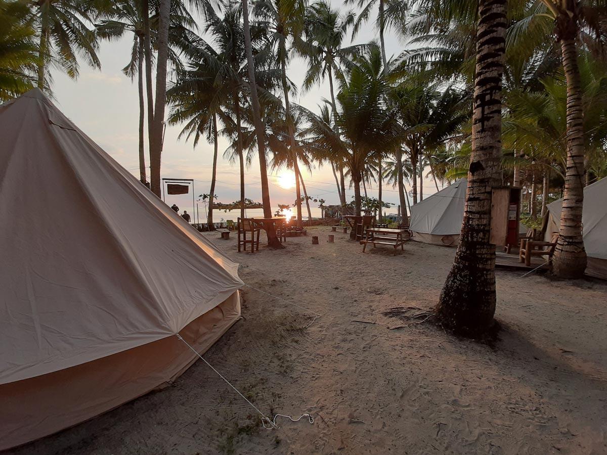 Sunset view at the beach in San Juan, Siquijor