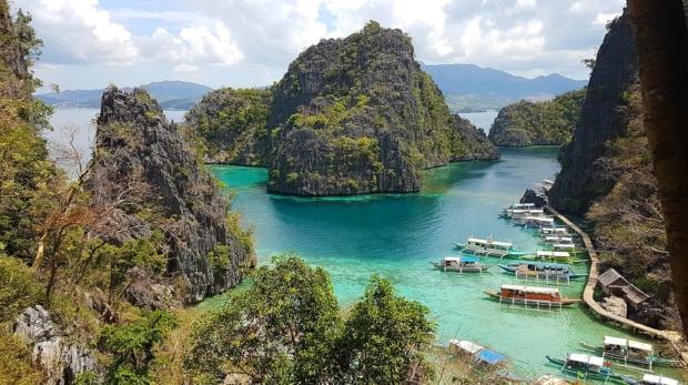 View of Kayangan Lake in Coron, Palawan, Philippines