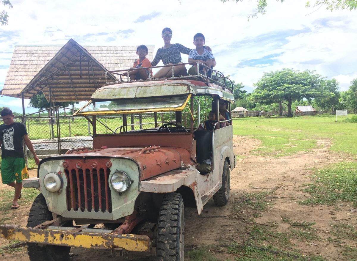 jeepney ride in calauit safari coron