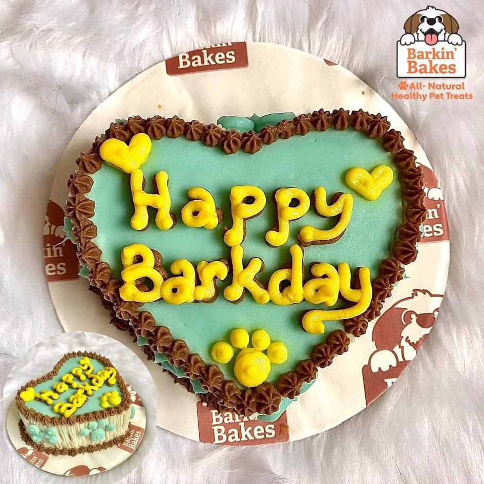 dog cake from Barkin Bakes