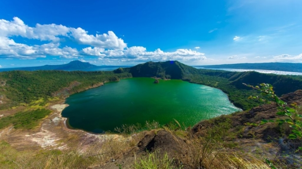 view of Taal Lake and Volcano, Tagaytay from the ridge