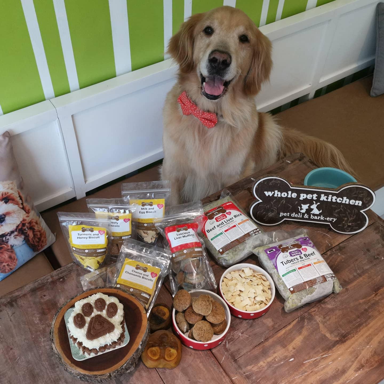 dog cake and dog treats from Whole Pet Kitchen