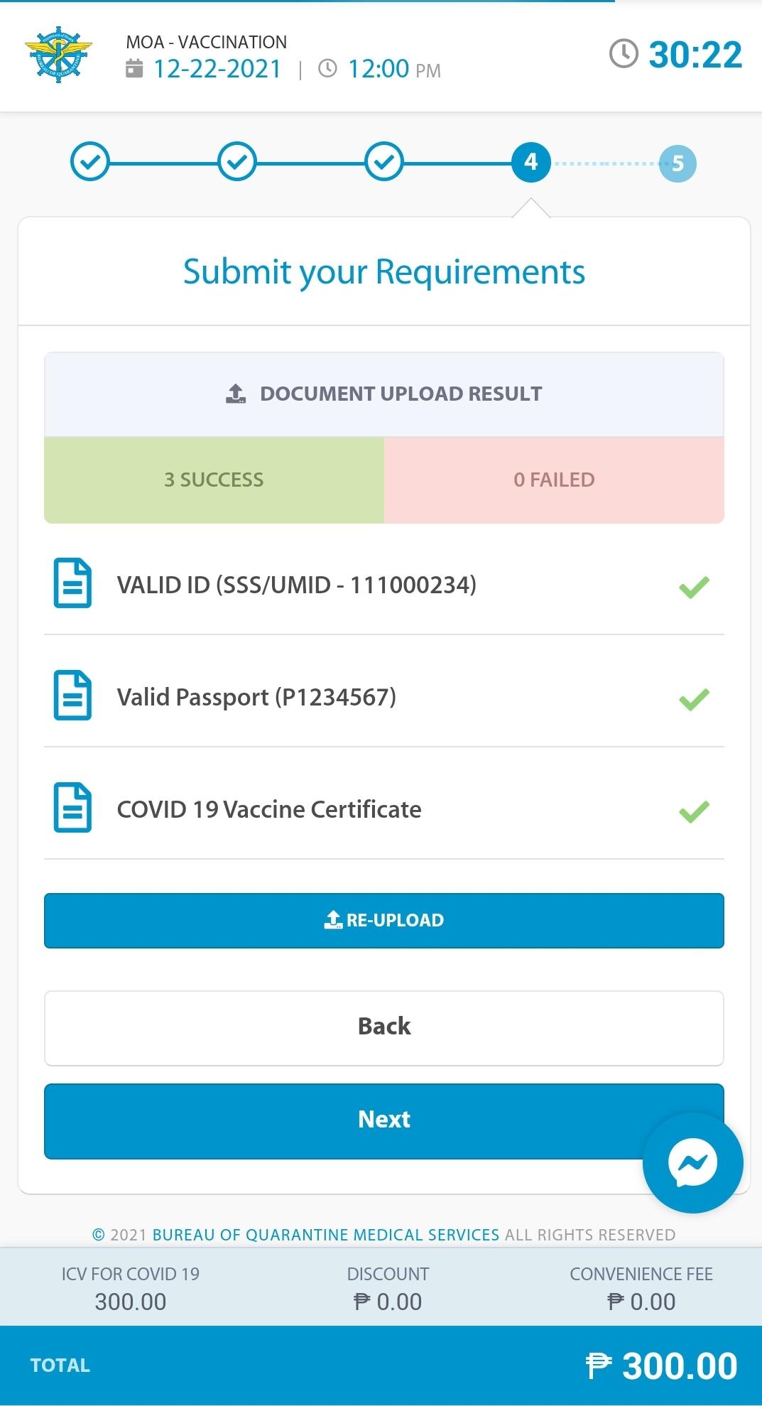 BOQ International Certificate of Vaccination - Step 9.2
